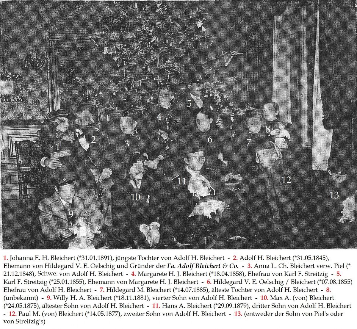 1899 Weihnachten in der Villa Hilda in Leipzig-Gohlis