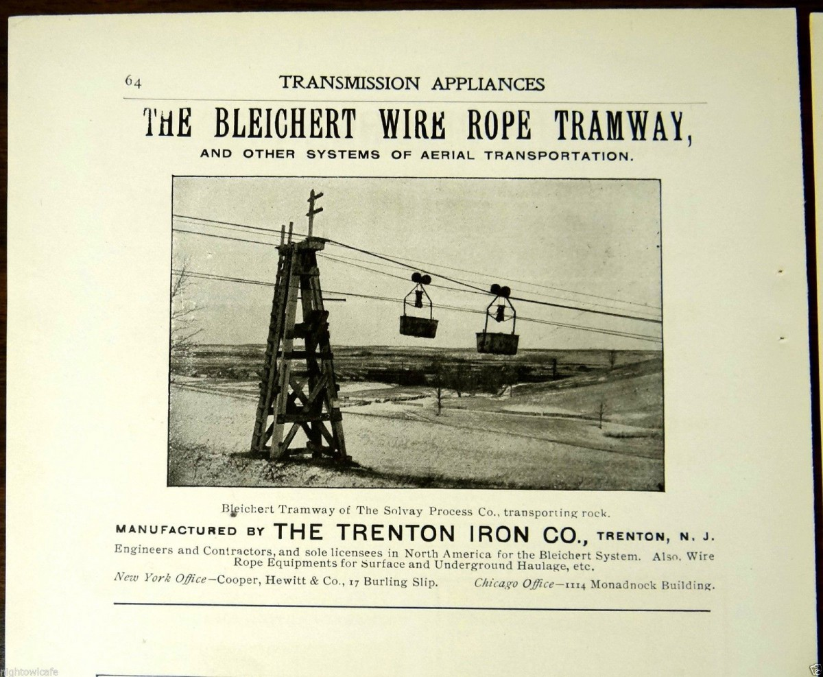 1900 AdBleichert Tramway at Solvay Process Co.