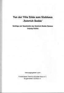 Gohliser Hefte Villa Hilda