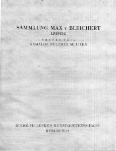 Sammlung Max von Bleichert