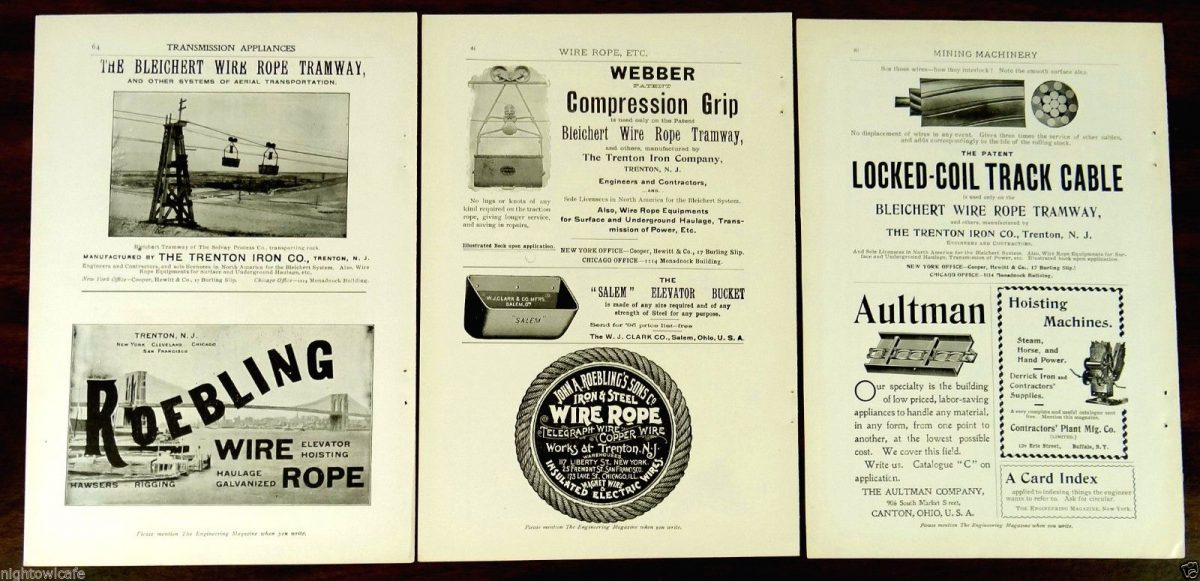 1900 Ad Bleichert Wire Rope Way