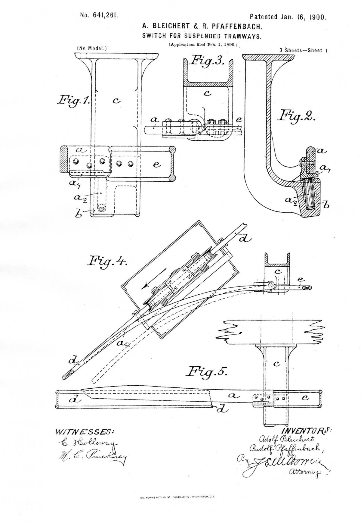 Bleichert Patent USA 1900