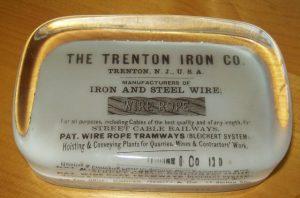 Paperweight Trenton Iron Co NJ