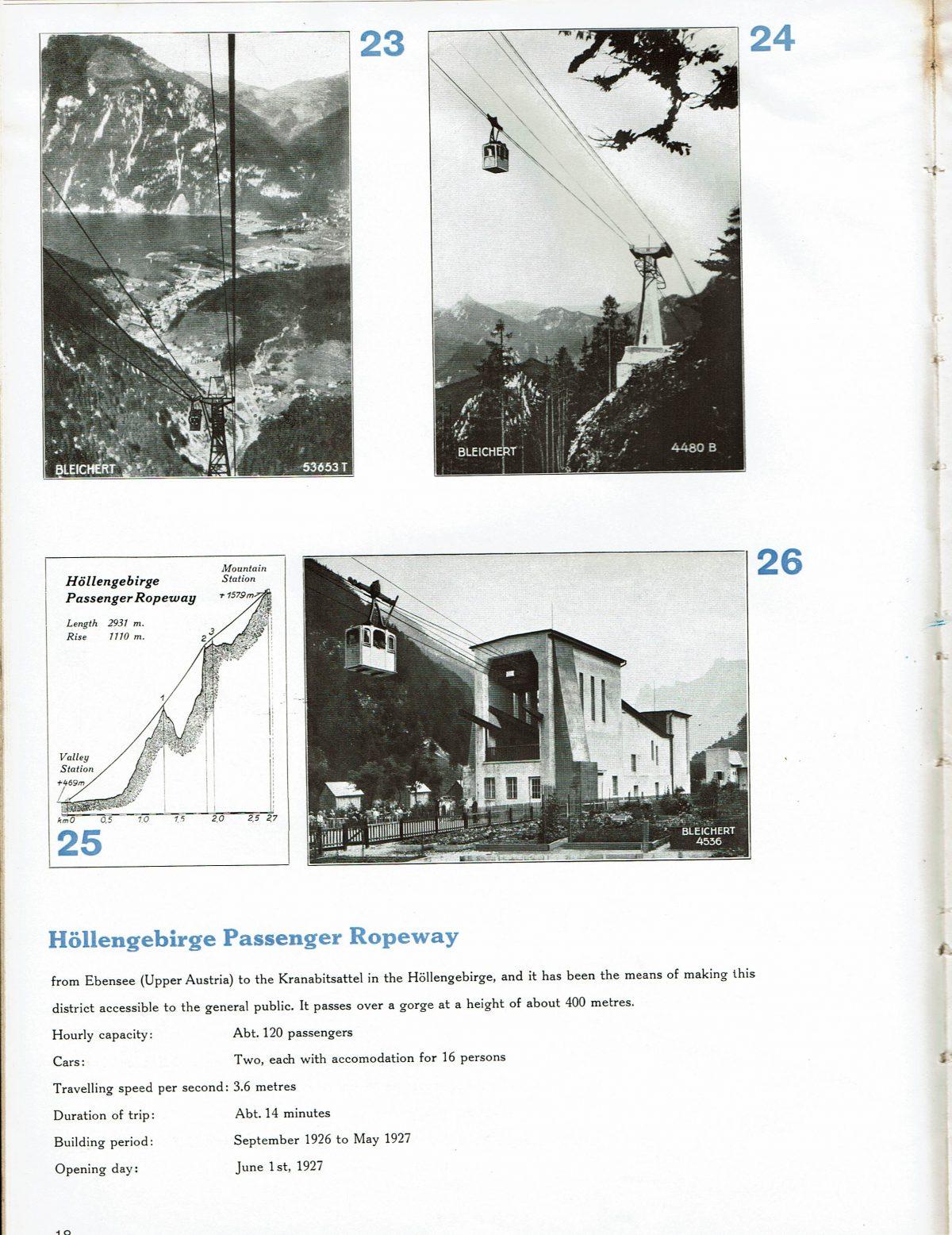 1933 Bleichert Passenger Arial Ropeways 15