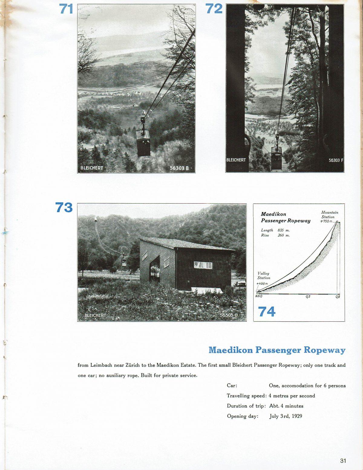 1933 Bleichert Passenger Arial Ropeways 28