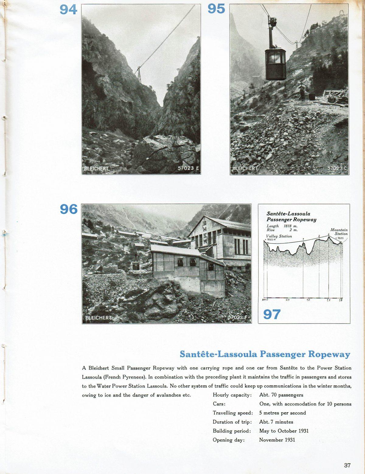 1933 Bleichert Passenger Arial Ropeways 32