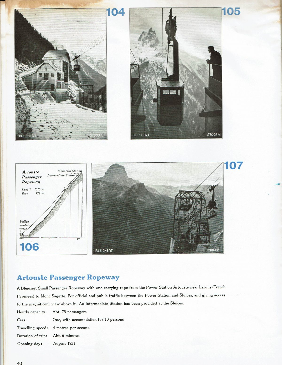 1933 Bleichert Passenger Arial Ropeways 35